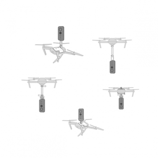 Supports fixation Insta360 One X pour Mavic 2