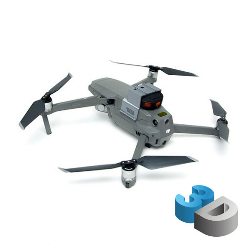 Support Tracker GPS pour DJI Mavic 2 - impression 3D LCE