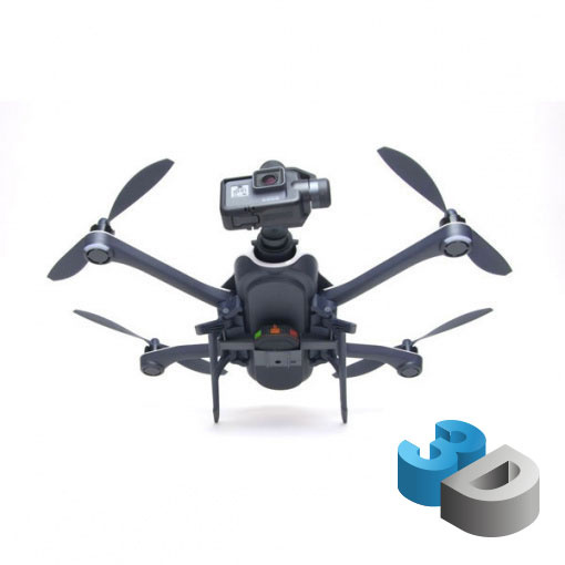 Support Tracker GPS pour GoPro Karma - impression 3D LCE