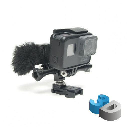 Support adaptateur micro 3.5 mm GoPro V2 - impression 3D LCE