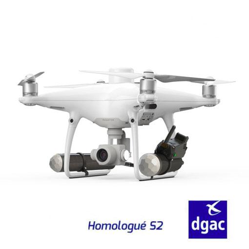 DJI Phantom 4 RTK homologué S2 (coupe circuits & parachute) et Terra pro