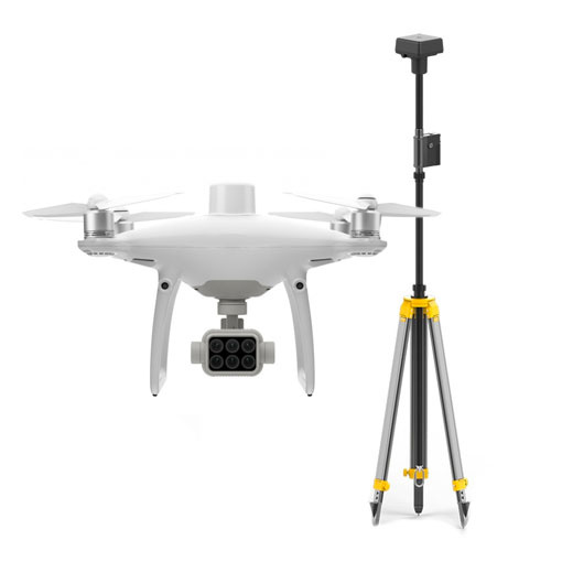 DJI Phantom 4 Multispectral + Station D-RTK2 et Trépied