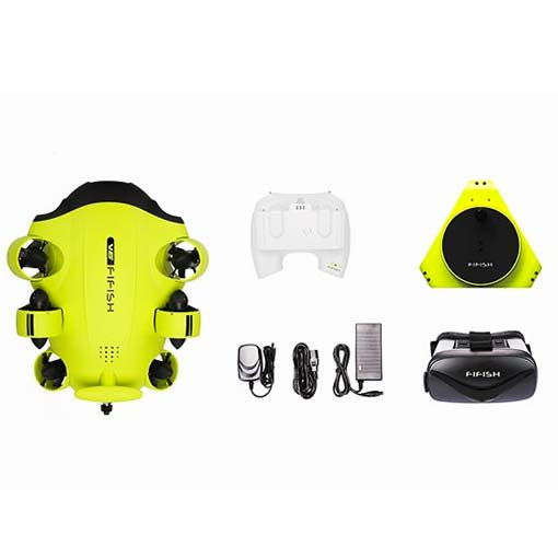 Drone sous-marin Fifish V6 & Casque head Tracking - Qysea