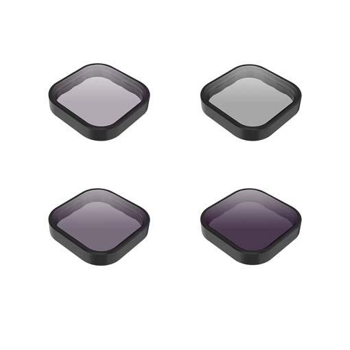 Kit de 4 filtres (CPL, ND8, ND16, ND32) Telesin pour GoPro HERO9