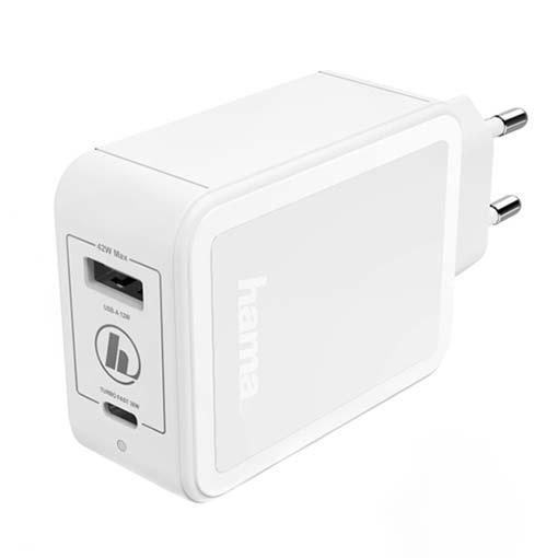 Chargeur Hama 42W (USB-C et USB-A)