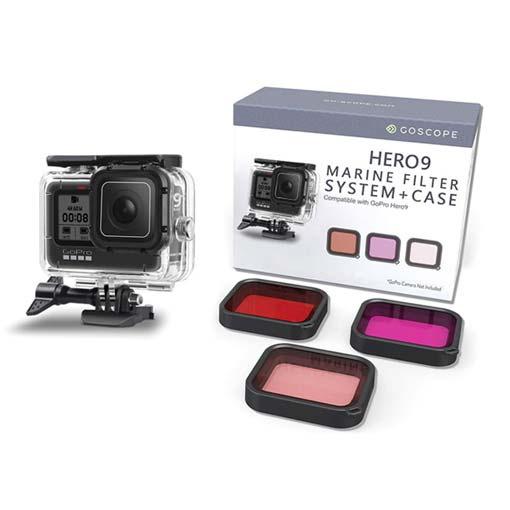 Goscope Marine Kit Caisson et 3 filtres pour GoPro HERO9