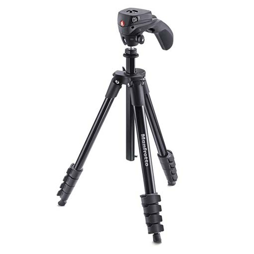 Trépied Manfrotto Compact Action en aluminium