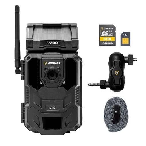 Caméra de sécurité V200 Cellulaire 4G et Solaire - Vosker