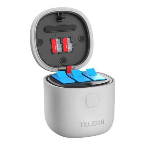 Allin Box Charger & TF Card Reader & Storage box charger for GoPro Hero9 (without battery)