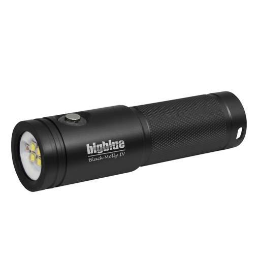 Lampe de plongée AL1800XWP II Black Molly IV BigBlue 1800 lumens