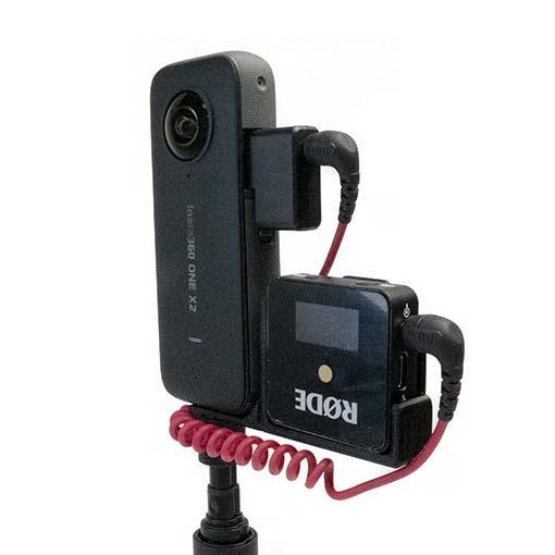 Support Récepteur micro pour caméra fixation 1/4