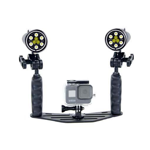 Pack phares Sola Vidéo Spot & Flood - 5000 lumens