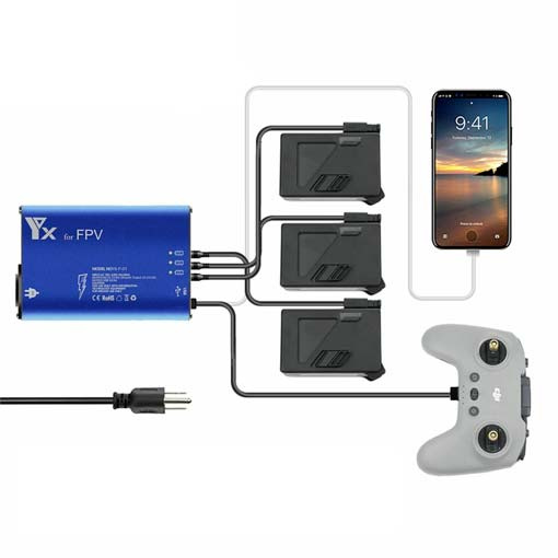 Chargeur multiple pour drone DJI FPV