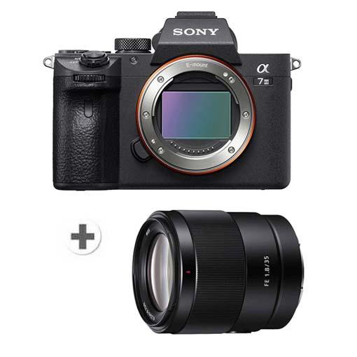 Pack SONY Alpha 7 III avec objectif FE 35mm f/1.8
