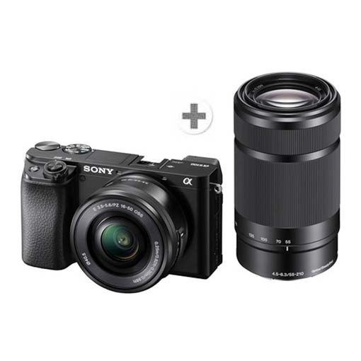 Pack Sony Alpha 6100 Noir + objectif zoom 16-50mm et 55-210mm