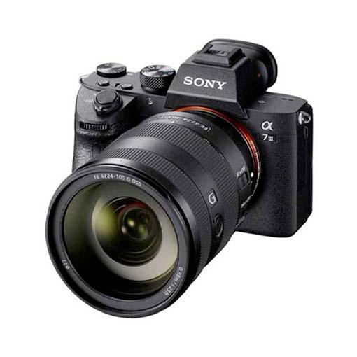 Pack Sony Alpha 7 III avec objectif FE 24–105 mm F/4 G OSS
