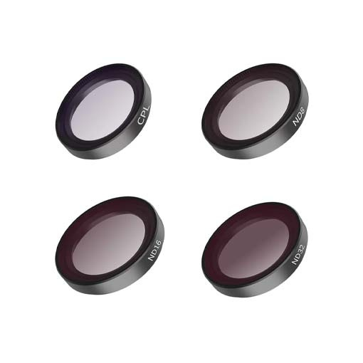 Kit 4 filtres (CPL, ND8, ND16, ND32) Telesin pour Insta360 Go 2