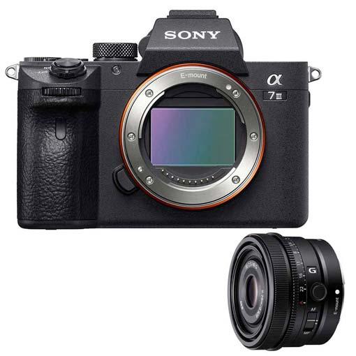 Pack Sony Alpha 7 III avec objectif FE 40mm f/2.5G