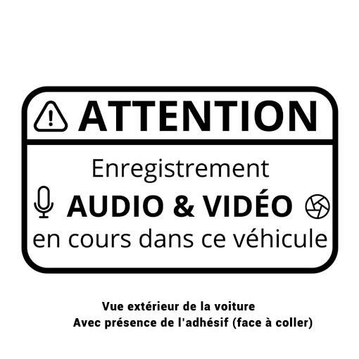 Etiquette autocollante LCE Dashcam pour véhicule