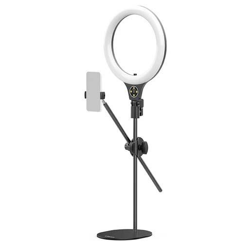 Trépied lampe annulaire Ulanzi avec fixation téléphone intégrée