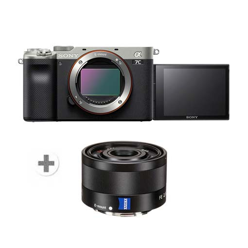 Pack Sony Alpha 7C Silver + Objectif FE 35mm ZEISS