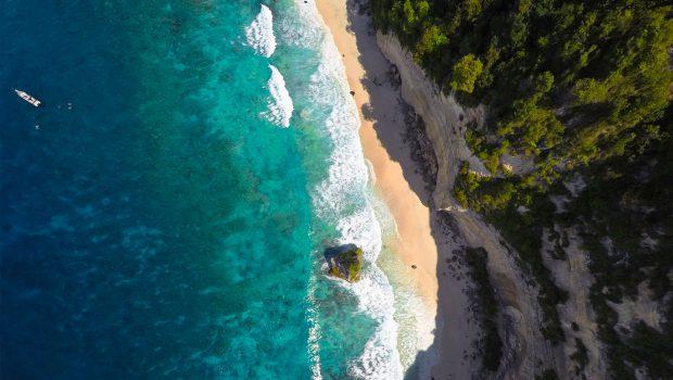 photo vue du ciel drone