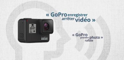 L'utilisation des commandes vocales de ma GoPro