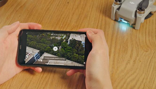 Téléchargez et éditez vos vidéos en vous connectant directement à votre Mini 2 !