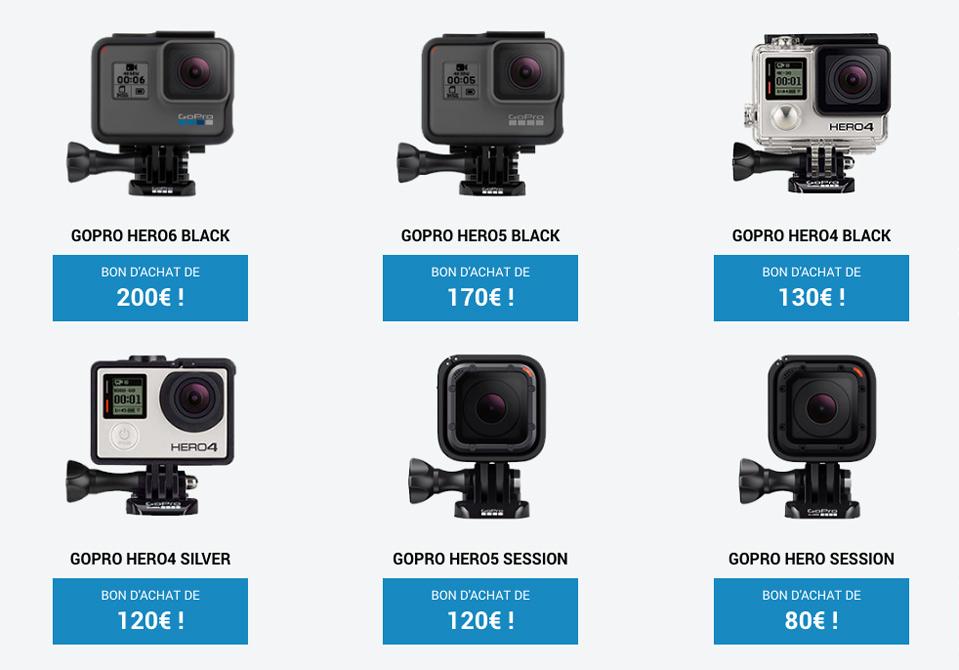 Toutes les caméras GoPro reprises contre des bons d'achat par l'opération Xchange by LCE