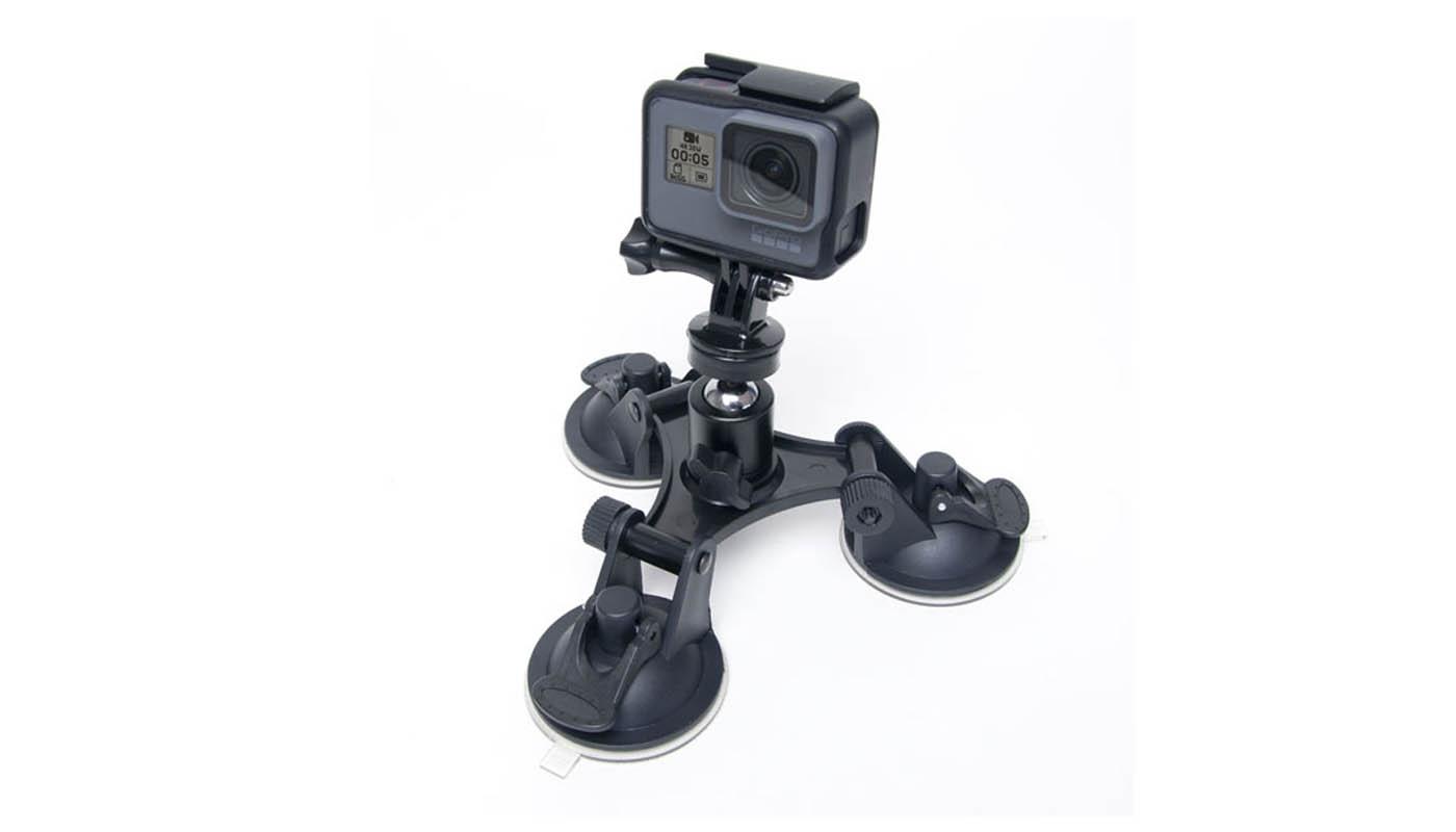 ventouse triple pour GoPro