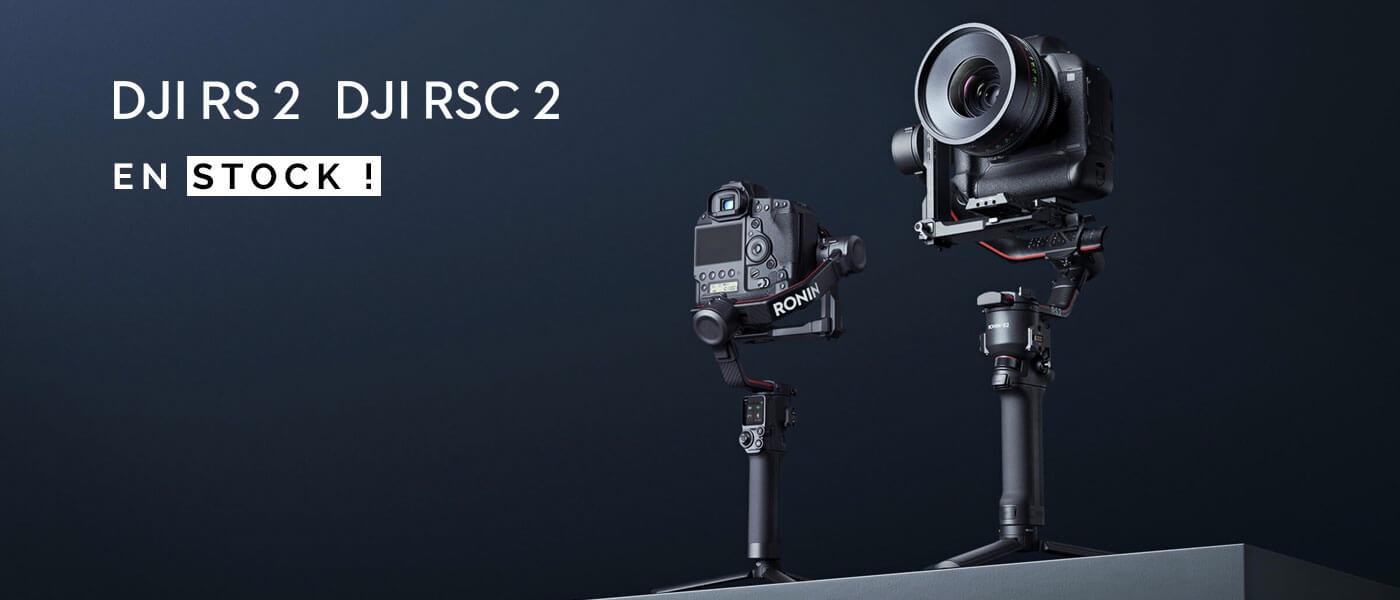 Nouveaux stabilisateurs DJI RS 2 - RSC 2
